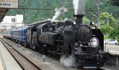 japan steam locomotive train