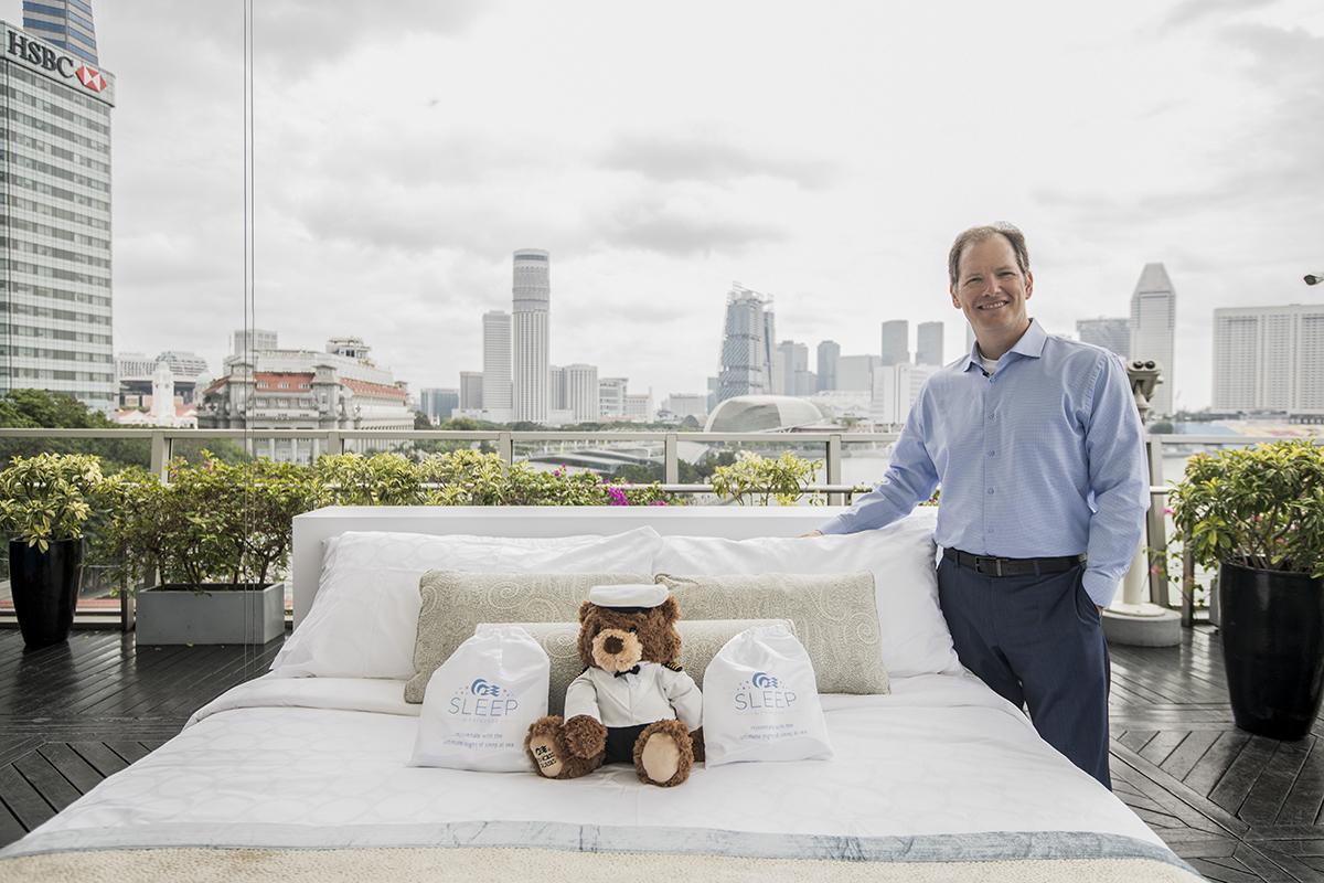 Dr Michael Breus, sleep doctor, with the Princess Cruises Luxury Bed
