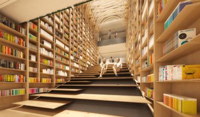 Haruki Murakami Library at Waseda University in Tokyo
